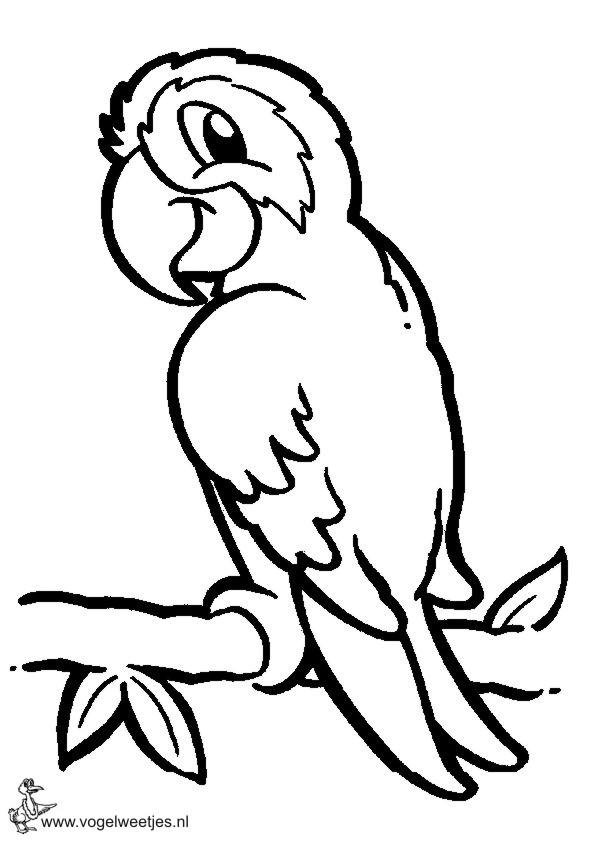 kleurplaten van een vogel